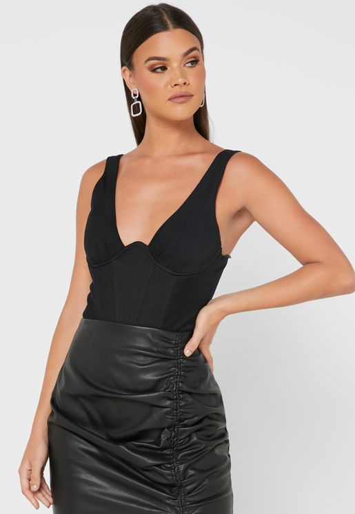 Mesh Ruched Body