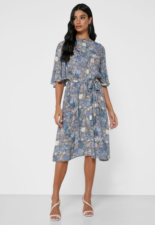 Rhone Angel Sleeve Printed Dress