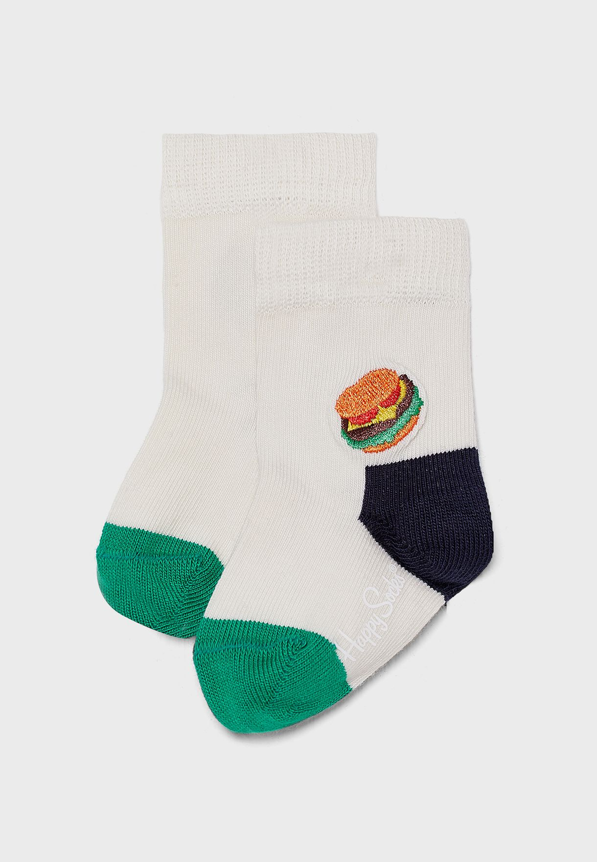 Kids Burger Embroidered Socks