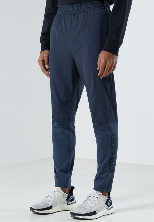 Colour Block Side Logo Woven Sweatpants