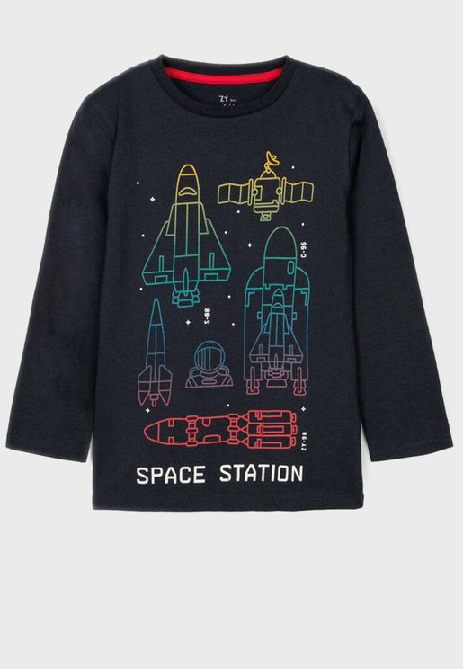 Kids Space Station T-Shirt
