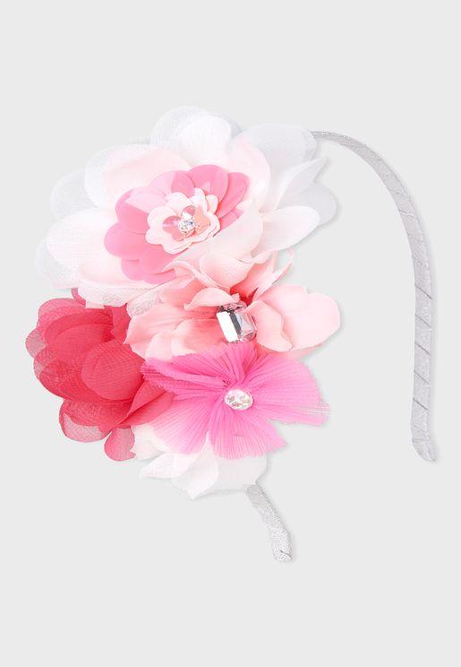 Kids Jewelwd Flower Headband