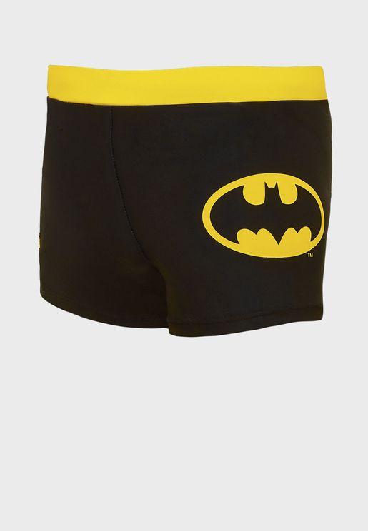 Kids Batman Paneled Swimming Shorts