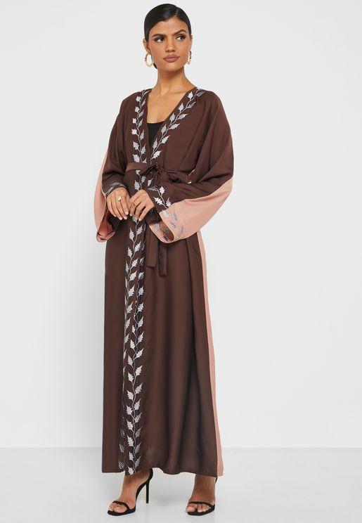 Pleated Knitted Abaya