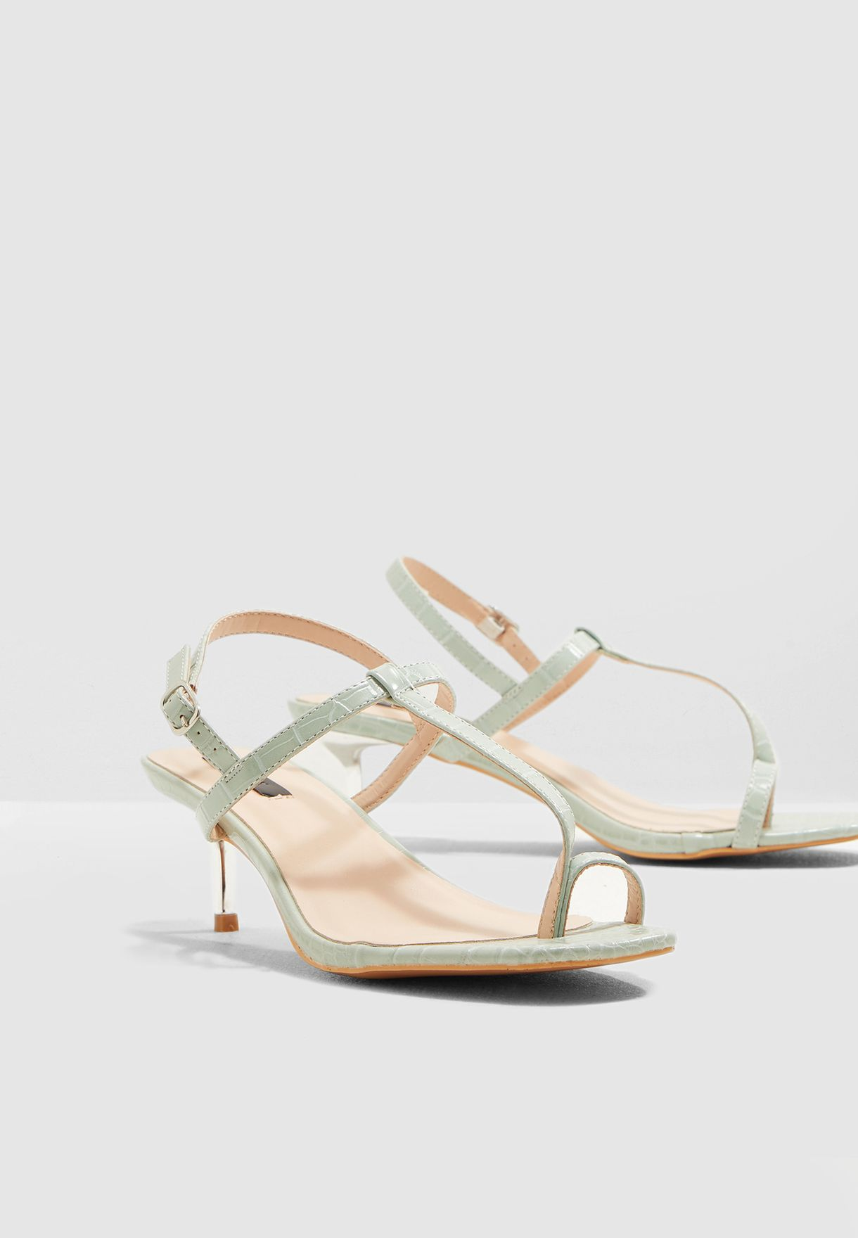 Rosie Toe loop Metal Kitten Heel Sandal