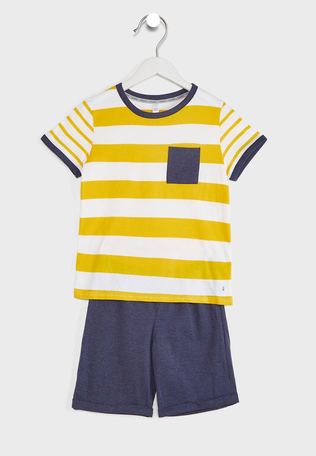 Youth Striped Pyjama Set