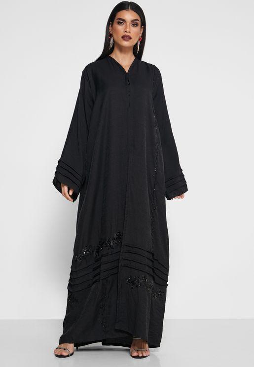 Ruffle Hem Detail Abaya