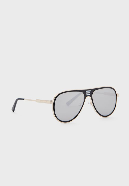 نظارة شمسية بإطار معدني