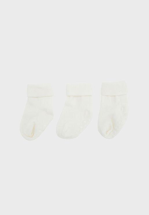 Infant 3 Pack Ankle Socks
