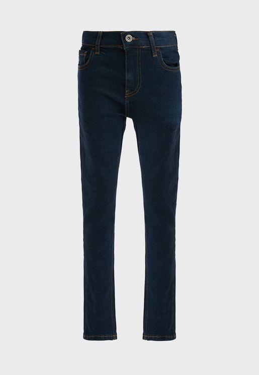 Kids Dark Wash Slim Fit Jeans
