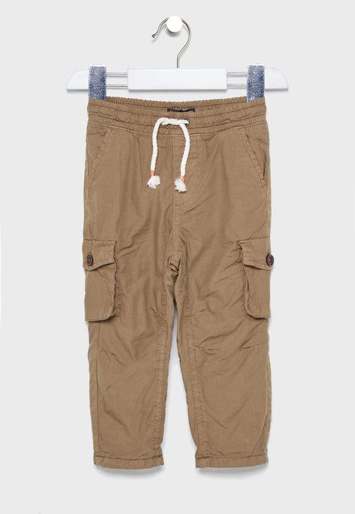 Kids Tie Waist Pants