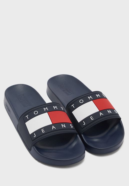 Flag Pool Slide Flat Sandal