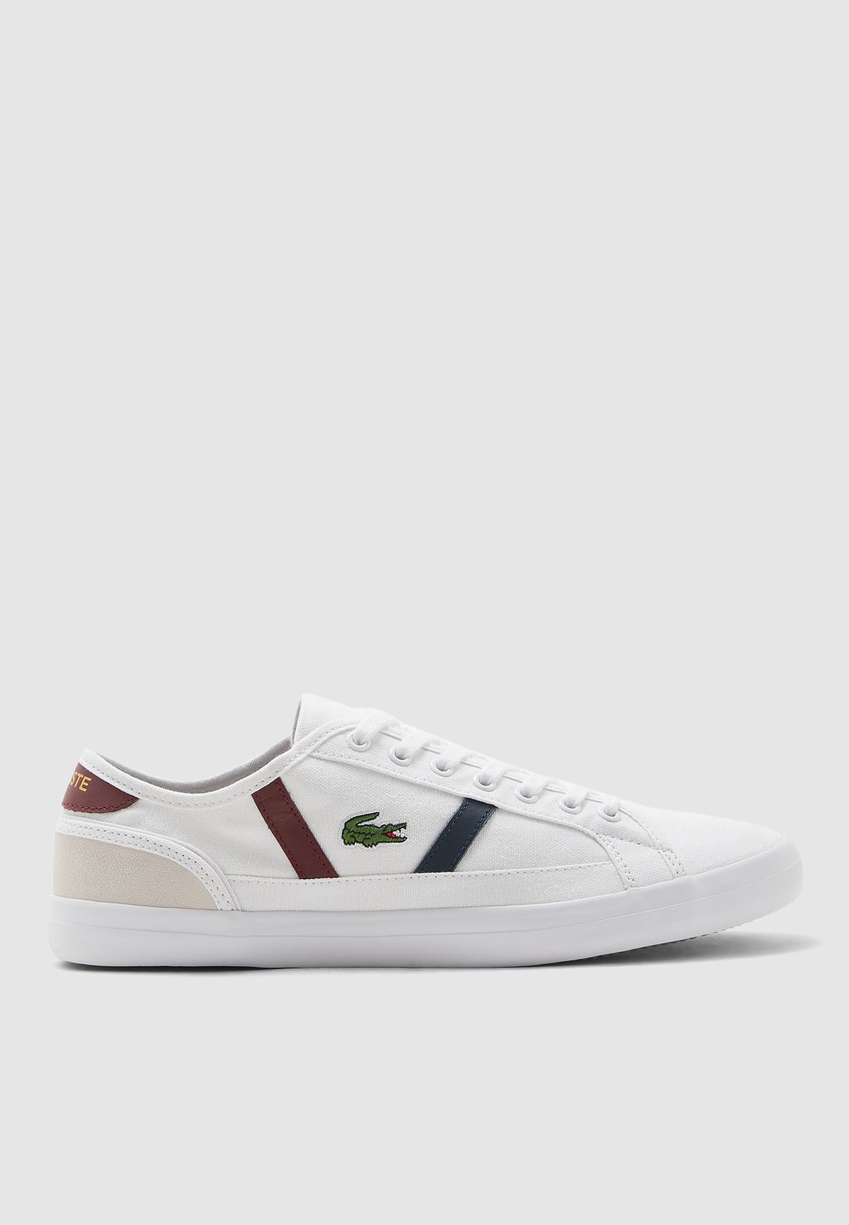 Lacoste White Sideline Sneakers For
