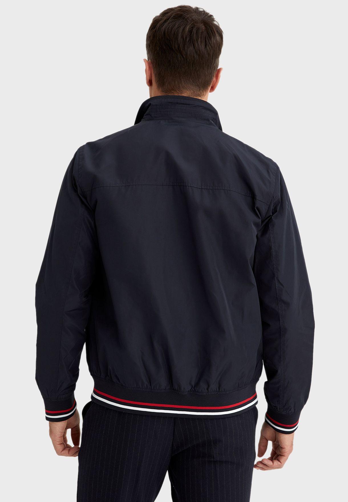 Tipped Zip Detail Pocket Jacket