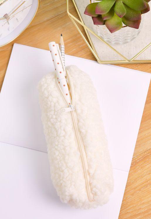 Teddy Fur Pencil Case
