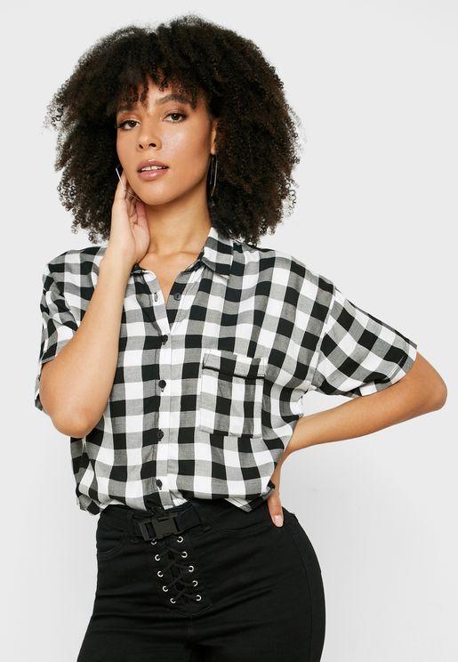 Short Sleeve Checked Shirt