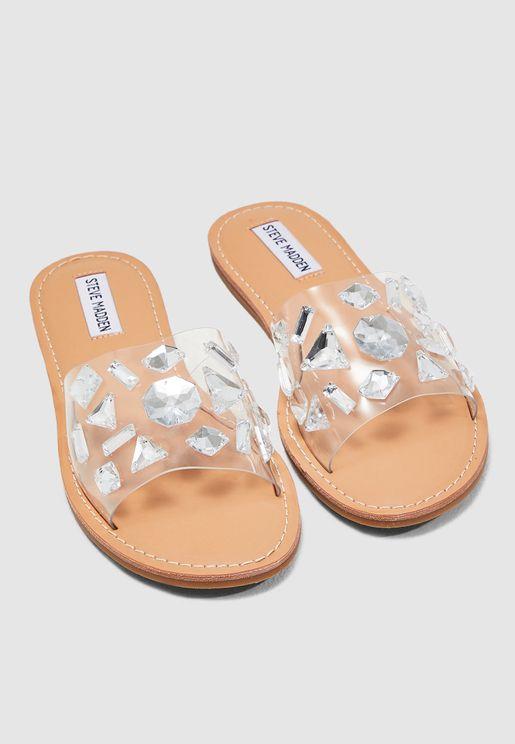 Reno Printed Sandal - Clear