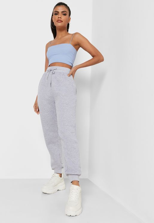 Quilted Oversized Joggers