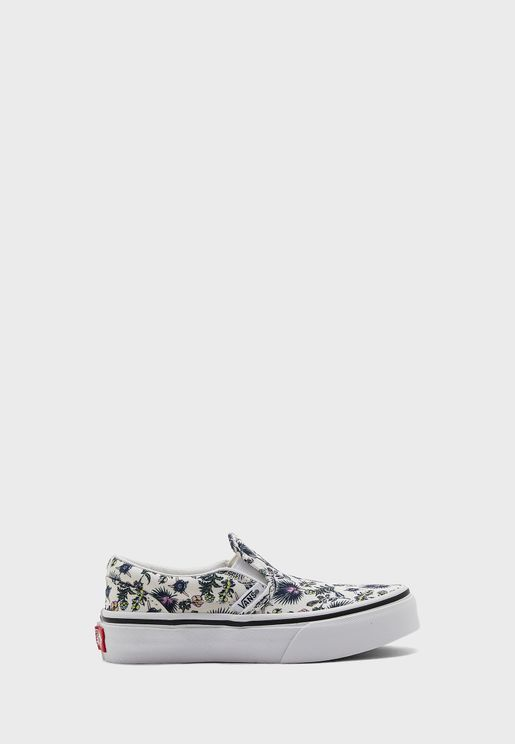 Kids Paradise Floral Classic Slip-Ons