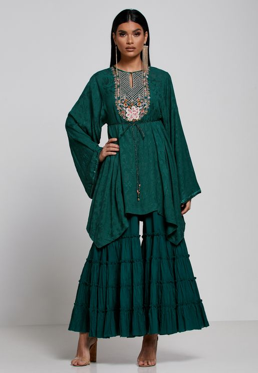 Embroidered Asymmetric Kurti