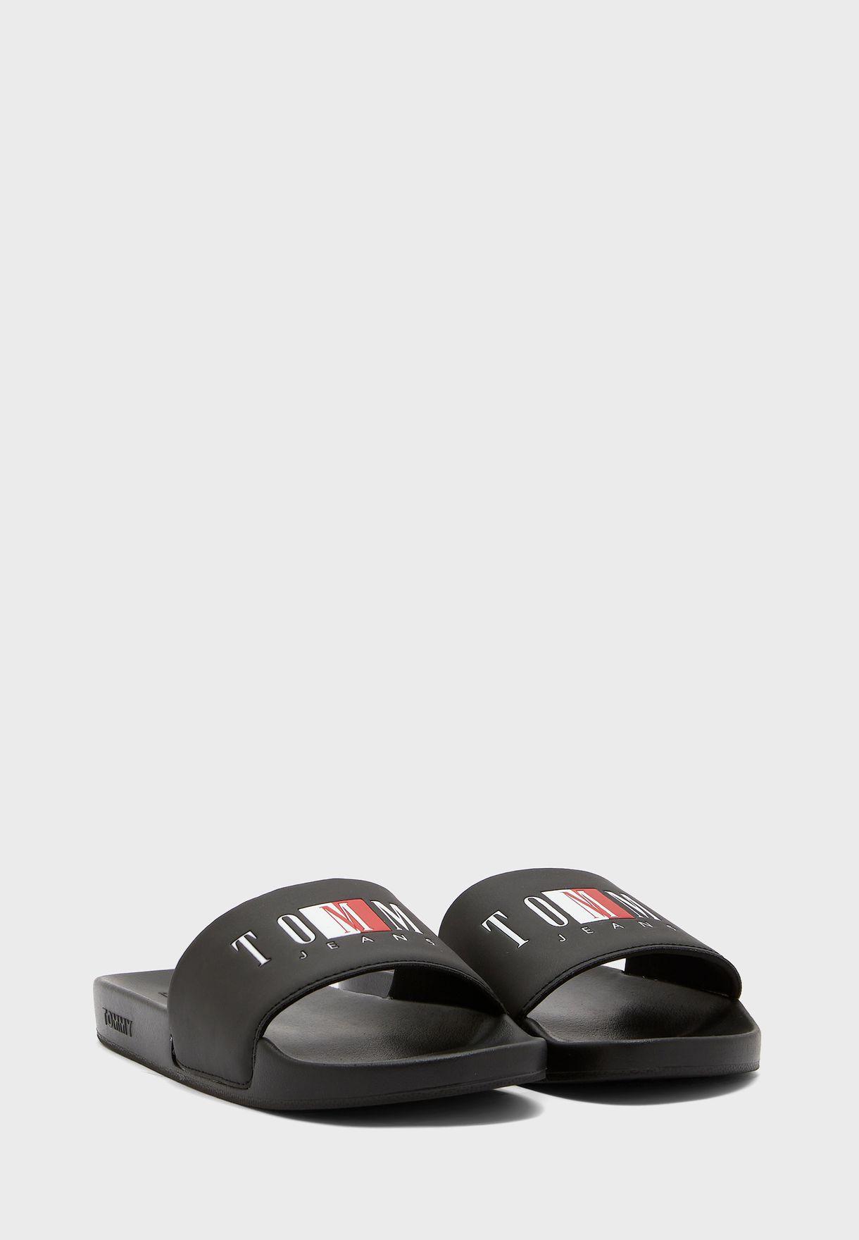 Logo Pool Flat Sandal