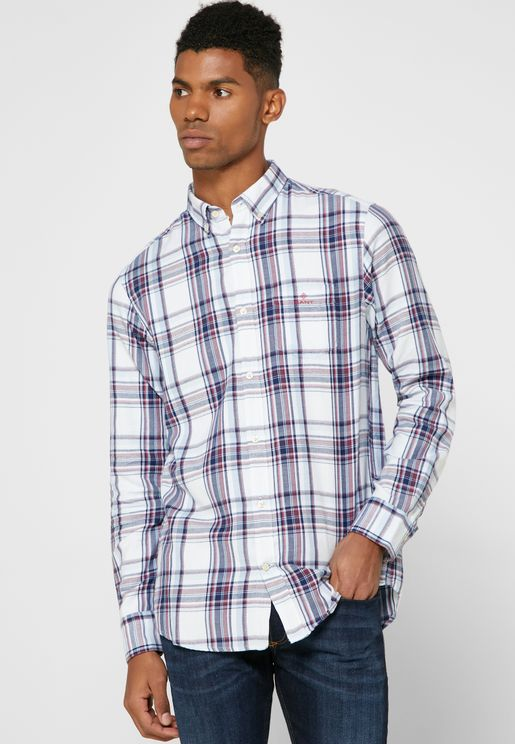 Flannel Checked Regular Fit Shirt