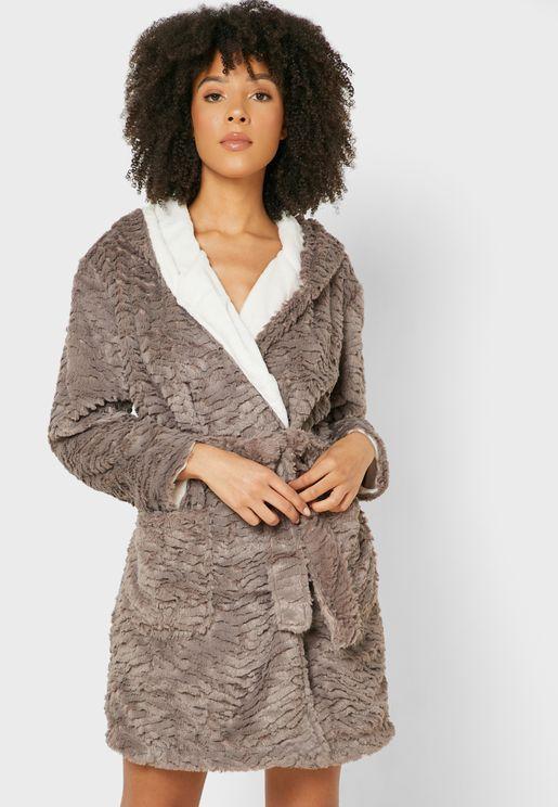 Textured Longline Robe