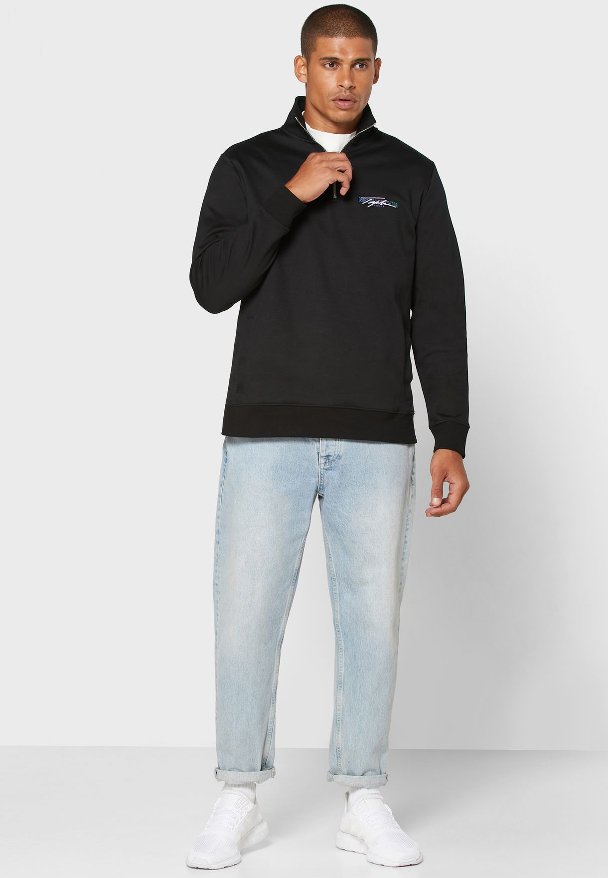 Signature Half Zip Sweatshirt