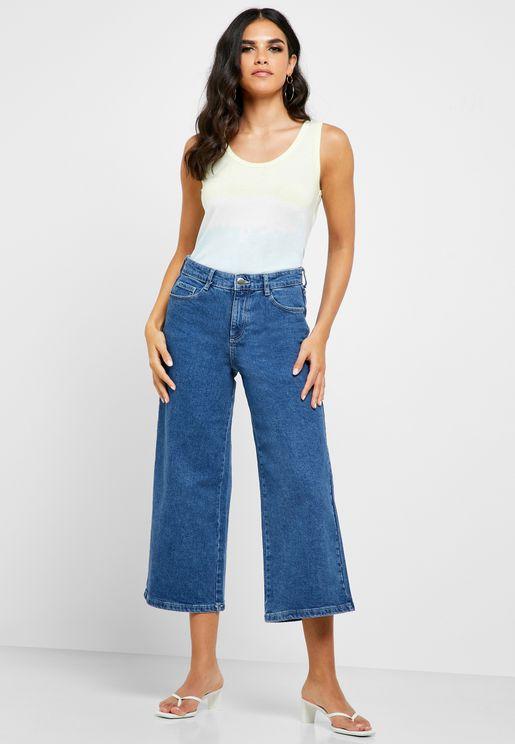 Wide Leg Crop Jeans