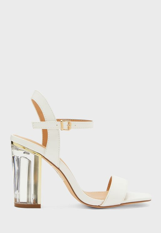 Ankle Strap Sandal With Persplex Heel