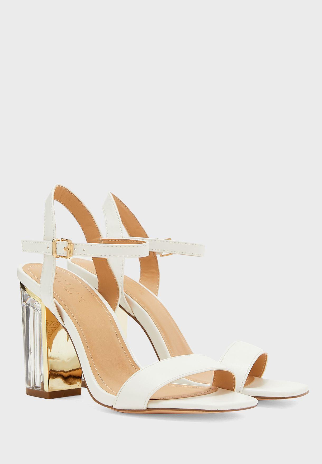 Ankle Strap Sandal With Persplex Heel