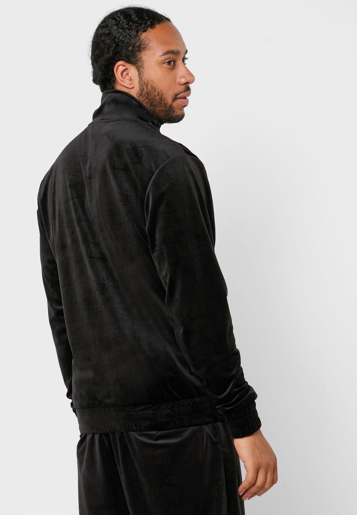 Retro Velvet Track Jacket