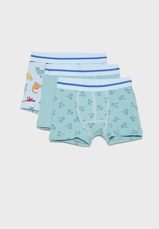 Kids 3 Pack Assorted Trunks
