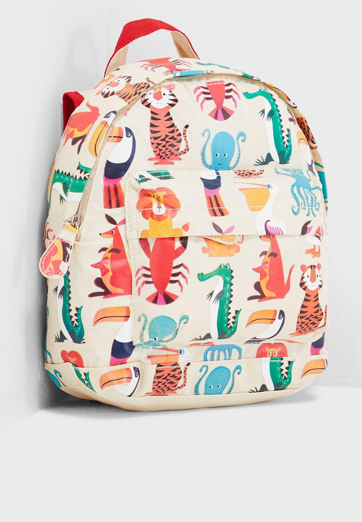 Shop Rex London prints Kids Colorful Creatures Mini Backpack 26550 for Kids  in Qatar - 26616AC45TVP 06e67e72f3c85