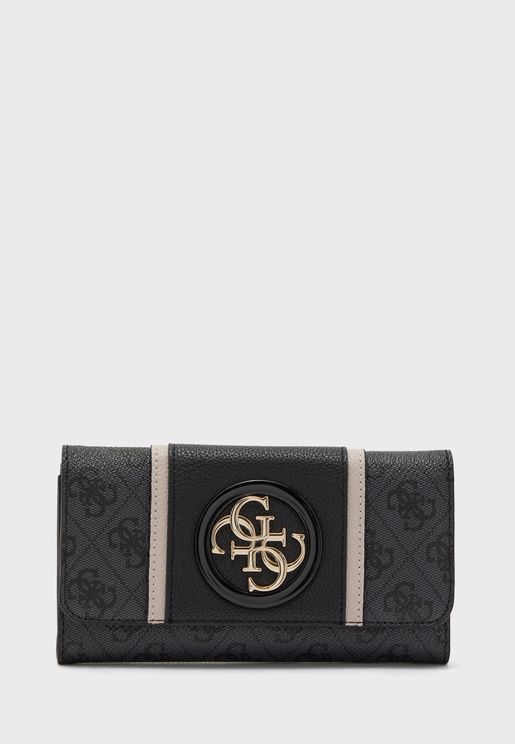 محفظة قابلة للطي مزينة بشعار الماركة