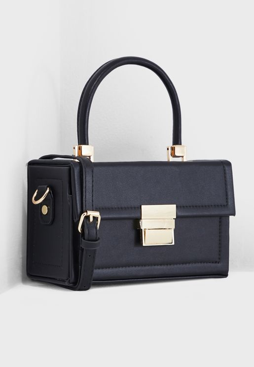 Boxy Top Handle Satchel