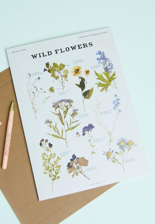 Wildflower Photographic Card