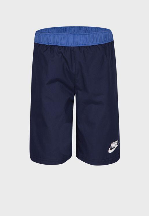 Kids Oversized Swoosh Woven Shorts