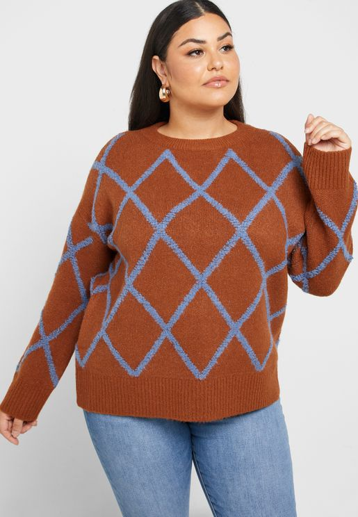 Tile Print Sweater
