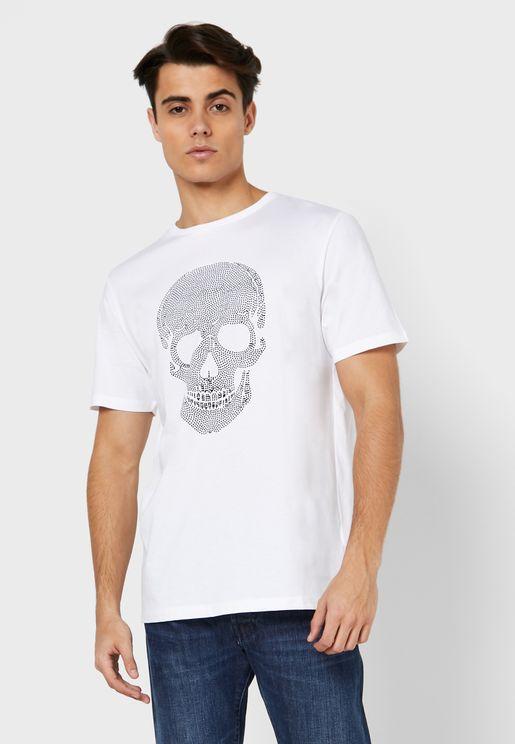 Skull Drawn Print