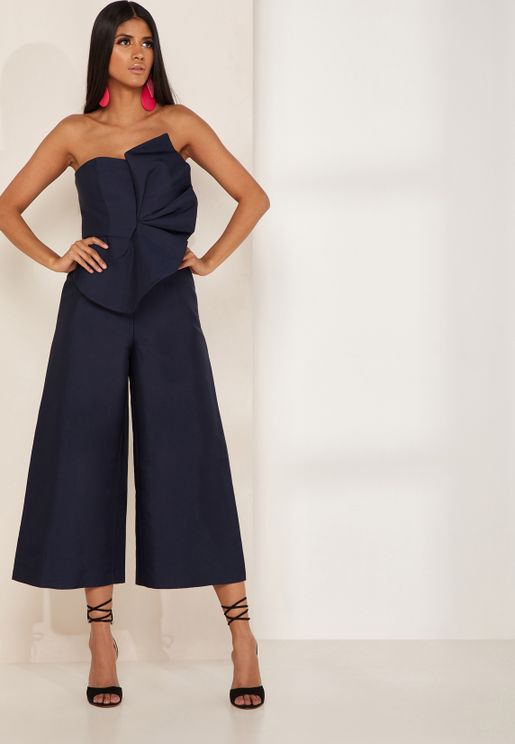 Love Light Bandeau Frill Detail Jumpsuit