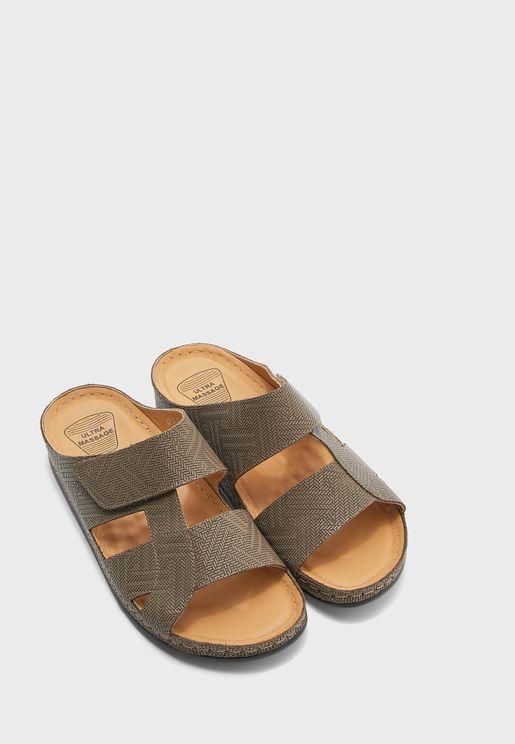 Wide Strap Arabic Sandal