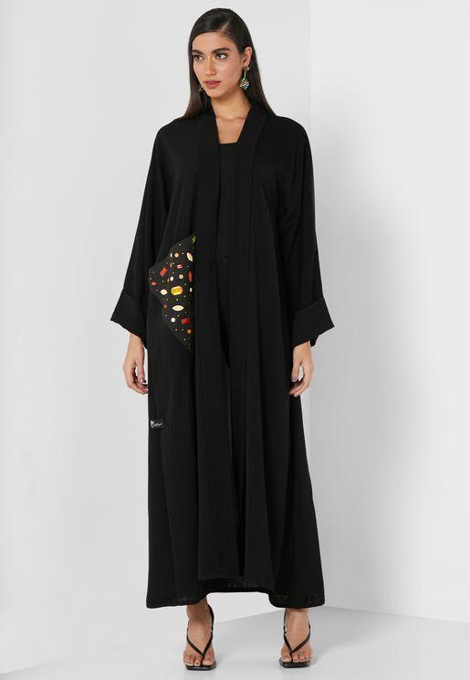 Gemstone Embellished Abaya