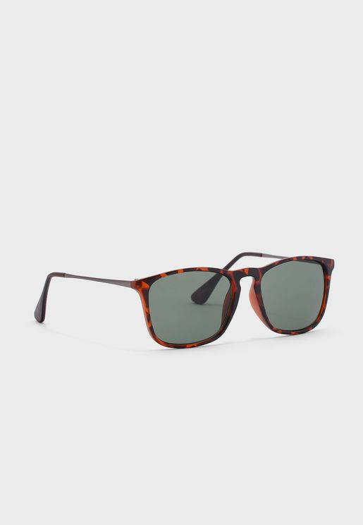 Maverick Retro Square Sunglasses