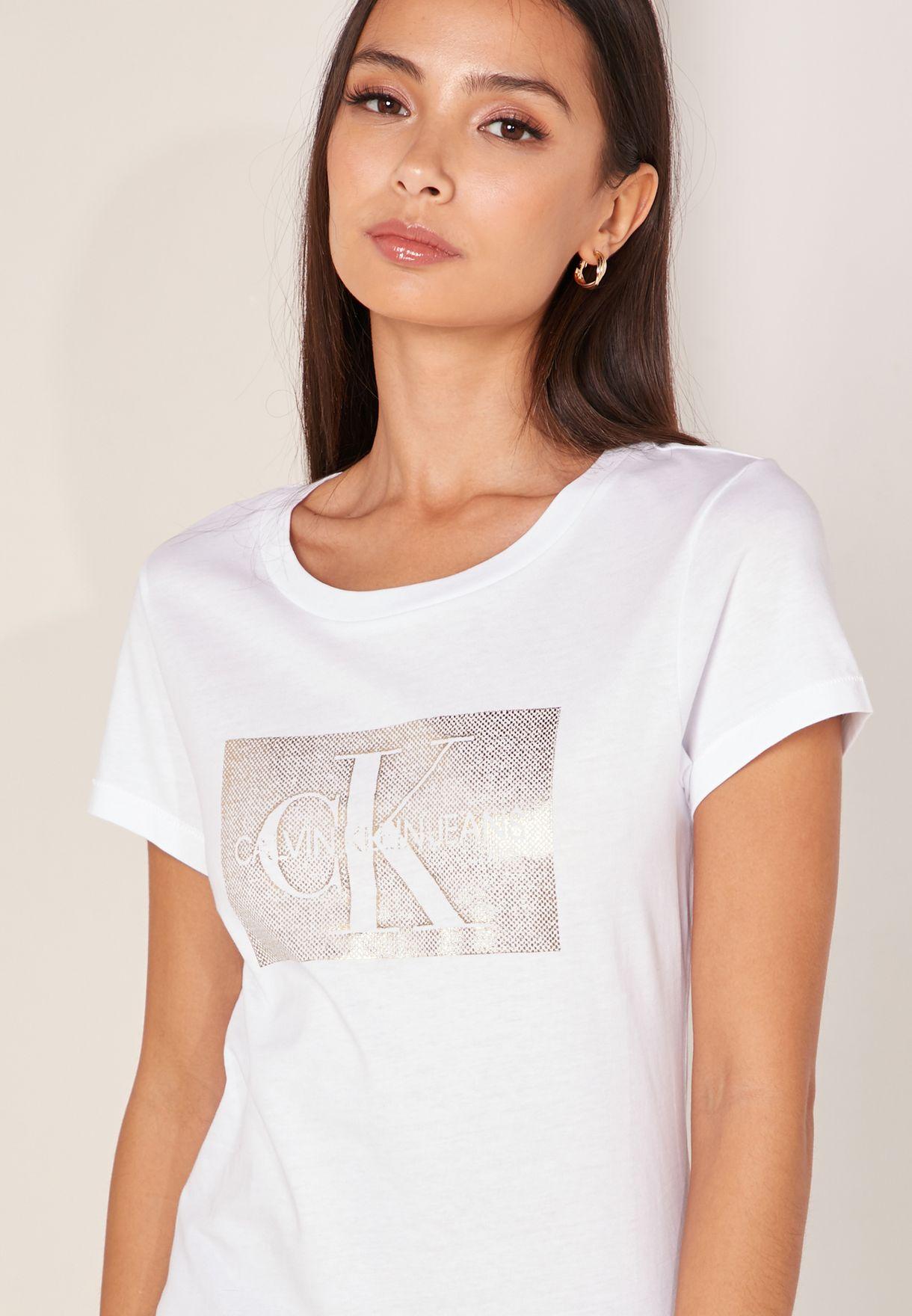 Distressed Monogram Logo Box T-Shirt