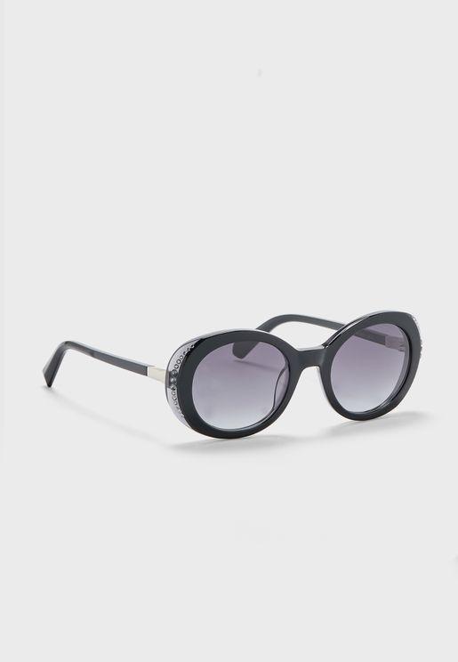 نظارة شمسية مزينة بالكريستال