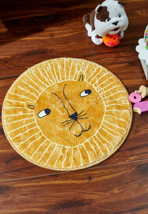 Yellow Animal Rug
