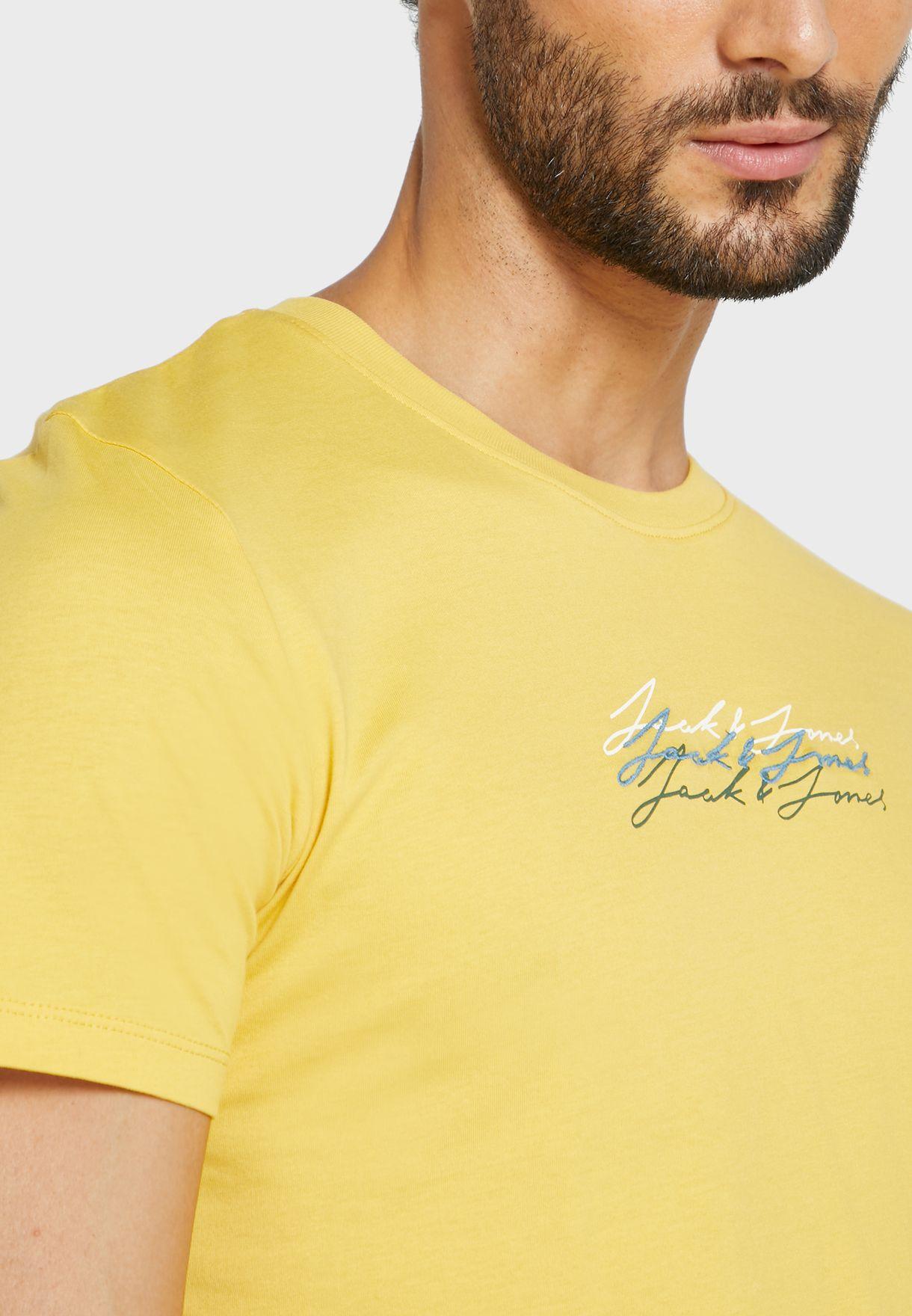 Luthar Regular Fit Crew Neck T-Shirt