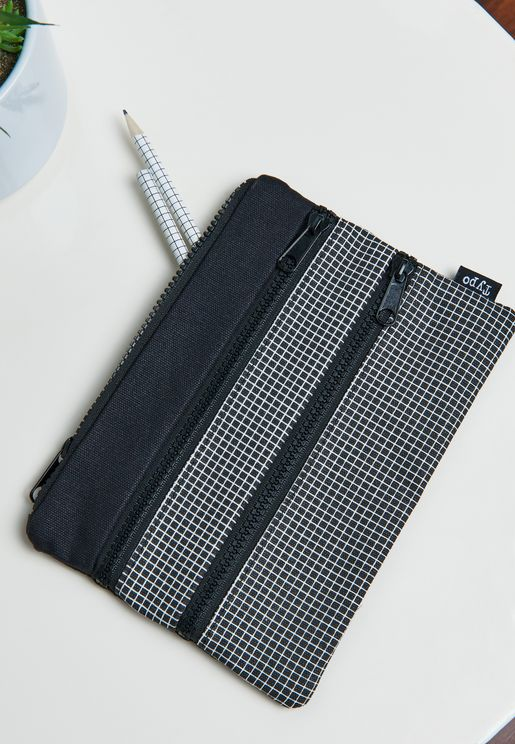 Grid Double Archer Pencil Case