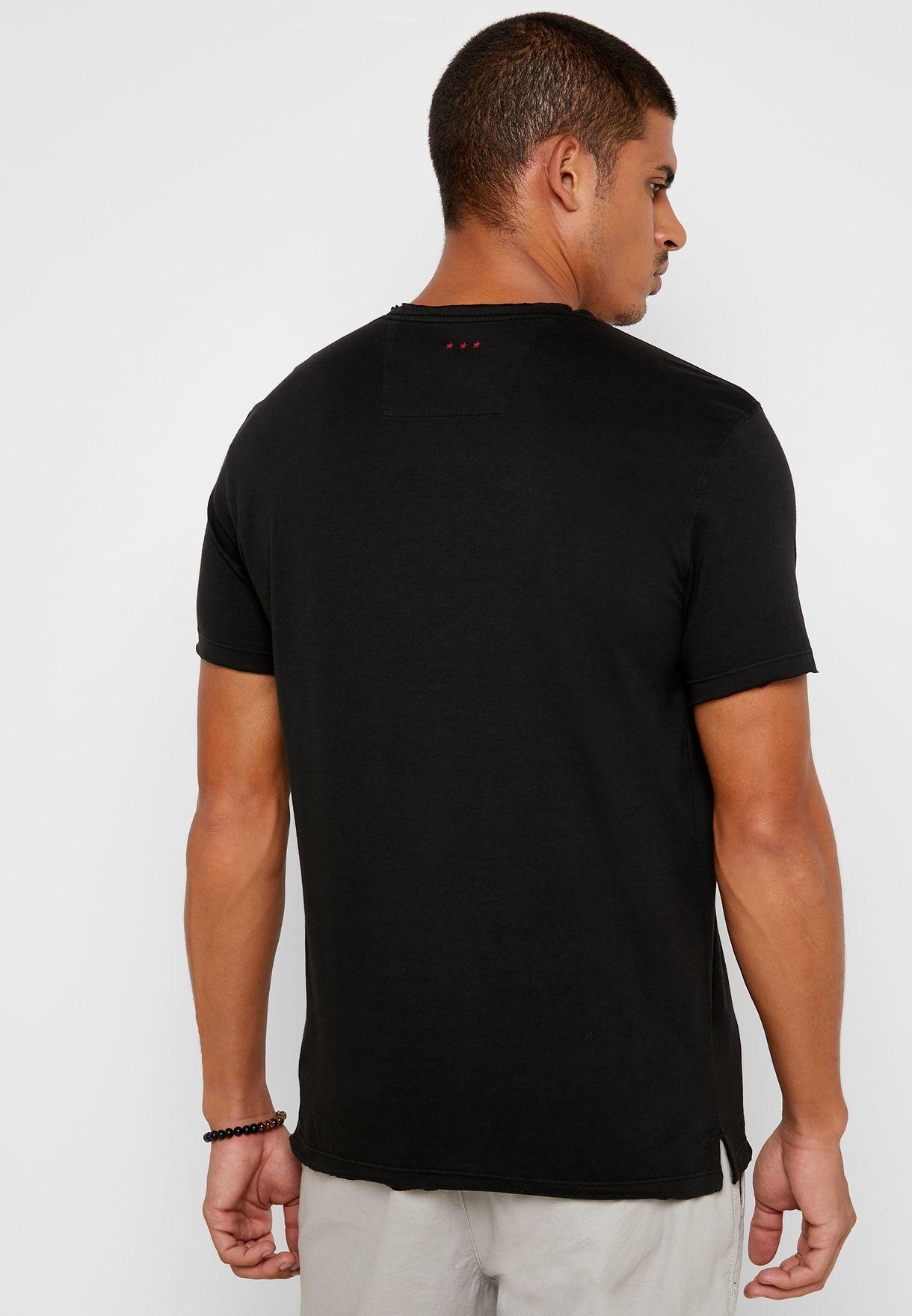 Skull Rose Crew Neck T-Shirt